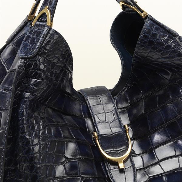 کیف دوشی گوچی مدل استیراپ ساخته شده از پوست کروکودیل